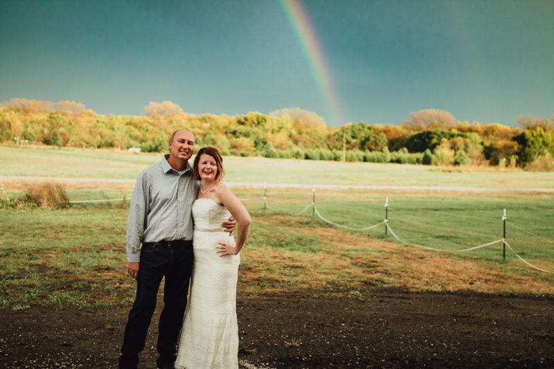 Wedding Photographer Kansas Kayla Kohn Lawrence Ottawa Bride Rainbow